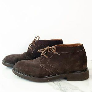 Doucal's NEW Dark Brown Suede Chooka Lace Boots